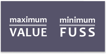 Maximum Value - Minimum Fuss