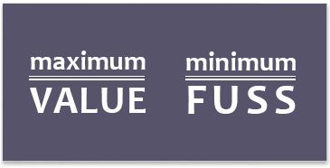 Maximum Value - Minimum Fuss